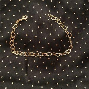 Sweet goldstone heart link bracelet
